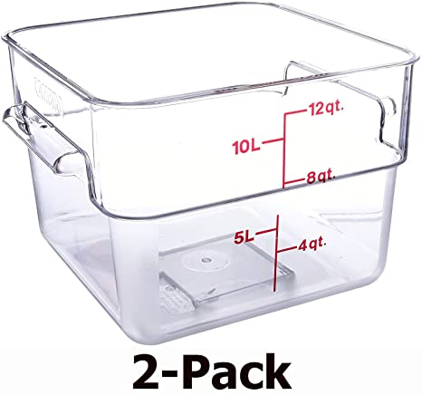 Amazon.com: Camwear Contenedores cuadrados de policarbonato ...