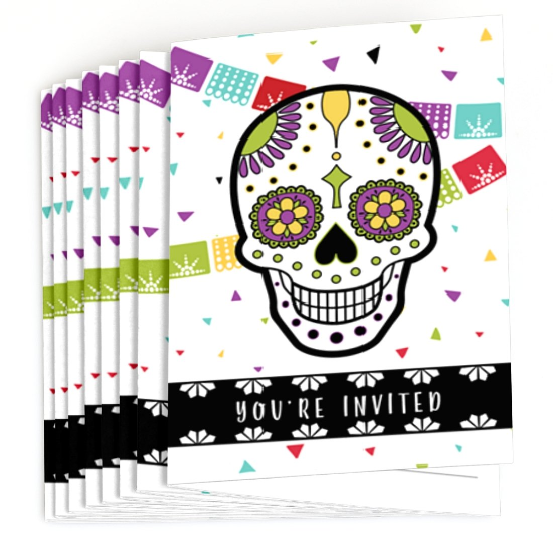 Amazon.com: Big Dot of Happiness Day Of The Dead - Fill In Halloween ...