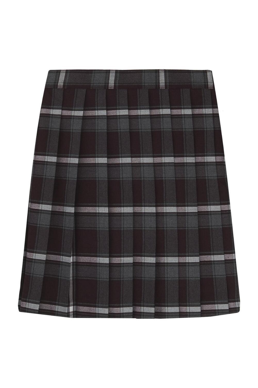 French Toast Big Girls' Plaid Pleated Skirt, Burgundy, 14