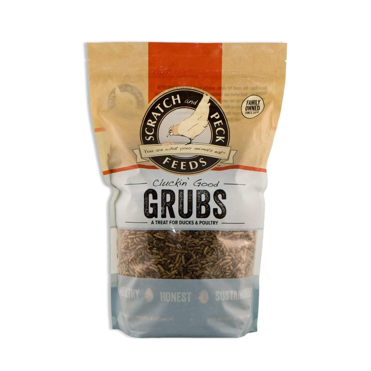 Scratch and Peck Feeds - Cluckin' Good Grubs Tasty Treats for Chickens and Ducks - Dried Black Soldier Fly Larvae - 3.5-lbs by SCRATCH AND PECK FEEDS YOU ARE WHAT YOUR ANIMALS EAT