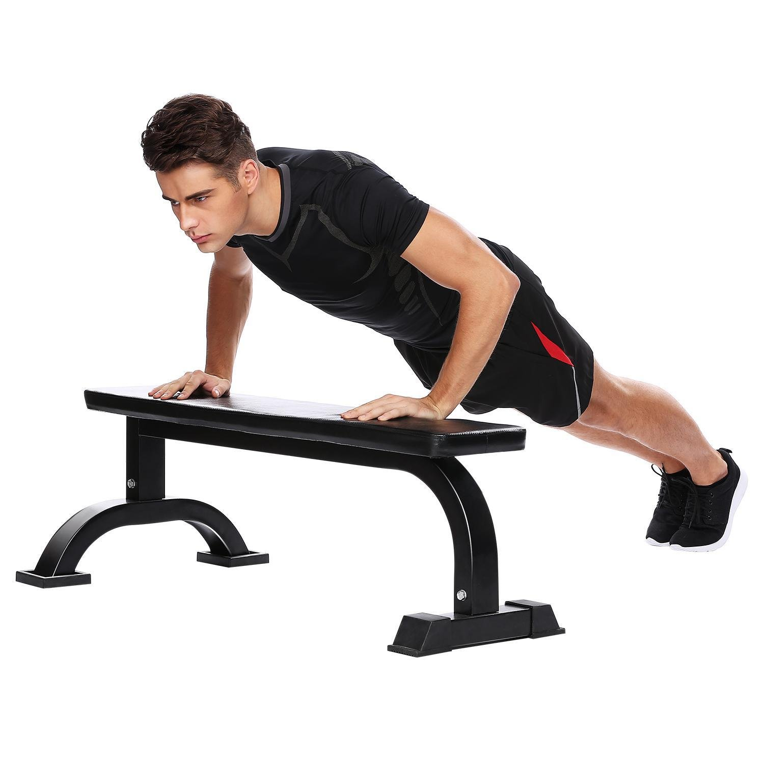 PEATAO Flat Bench Extra Strength Heavy Duty Equipment Padded Workout Bench For Weight Lifting, Sit-Up, Push-Up, Body Training by PEATAO