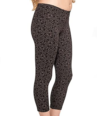 f6aae078aa9 Womens LSD Molecule Print Leggings Black Yoga Workout Capri Cropped Pant  Fit S