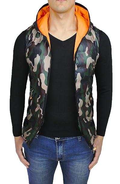 AK collezioni Giubbotto Smanicato Uomo Militare Mimetico Gilet Cardigan  Camouflage Slim Fit  Amazon.it  Abbigliamento c6da950bdfe
