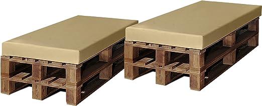 SERMAHOME Pack 2 Colchonetas para Sofas de Palet. Cojines Rellenos ...