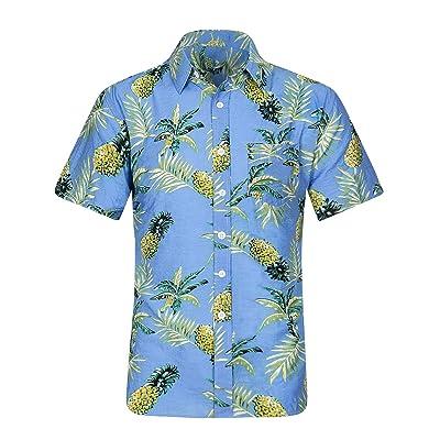 ZHPUAT Men's Hawaiian Shirt Short Sleeve Beach Party Flower Button Down Shirts at Amazon Men's Clothing store
