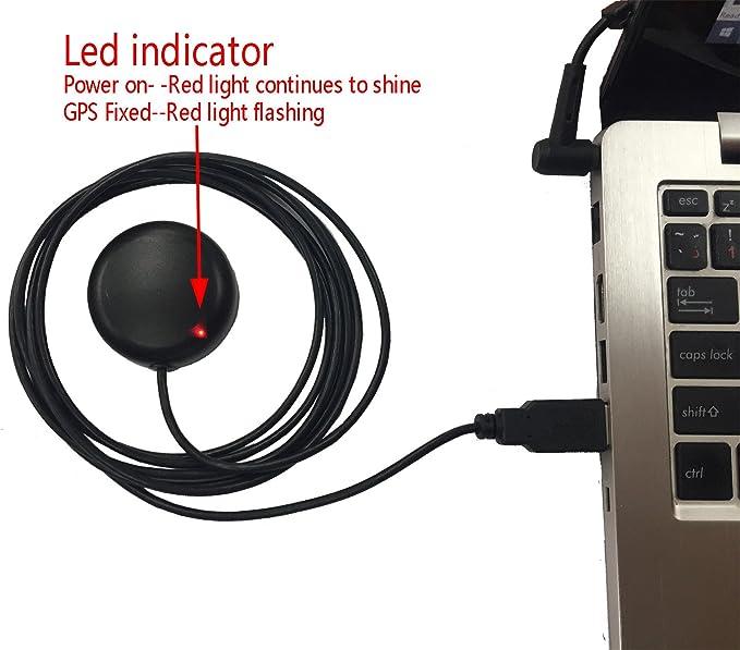 Antena Gmouse del receptor del GPS USB para la navegación marina del coche de la PC del ordenador portátil