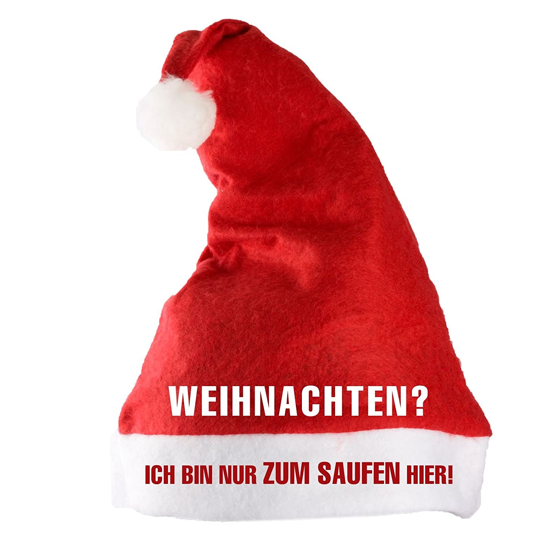 blau mit Pelzrand und Glitzereffekt f/ür Nikolaus und Weihnachten Adventino Superweiche Weihnachtsm/ütze gro/ße Schick oder Lustig-Auswahl