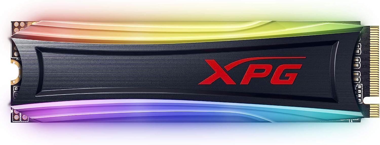 XPG S40G 512GB RGB 3D NAND PCIe Gen3x4 NVMe 1.3 M.2 2280 Internal SSD (AS40G-512GT-C)