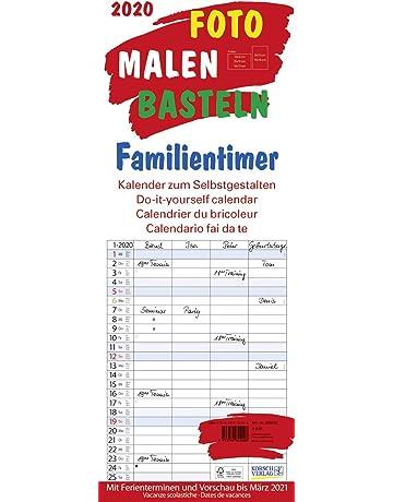 Kalender 2020 Familienplaner Küchenkalender Terminplaner Bastelkalender XL 53 cm