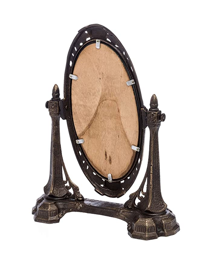 Spiegel Schminkspiegel Kosmetikspiegel antik Jugendstil Eisen mirror iron