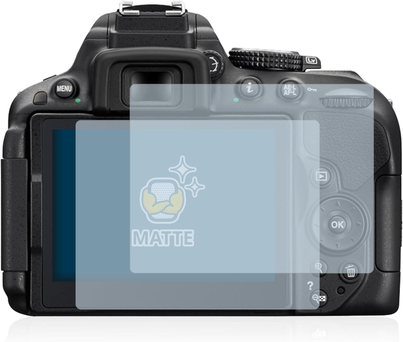 Pelicula Mate Anti-Huellas 2 Unidades BROTECT Protector Pantalla Anti-Reflejos Compatible con Nikon D5300