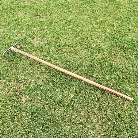 LXFMZ Hierro rastra Agrícola Herramientas de jardín Artículos para el hogar Hoja rastrillo de jardín Hierba para los Agricultores de Hierro 6 Dientes de rastrillo del rastrillo de Acero agrícola: Amazon.es: Hogar