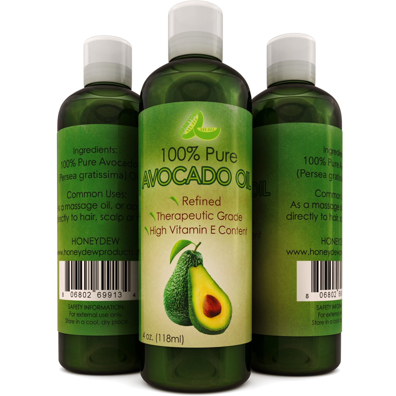 Avocado Oil For Hair Skin Nails Cold Pressed Antioxidant Nutrient Rich Oil Great as Massage Oil Anti-Aging Anti-Wrinkle Skin Care Shiny Hair