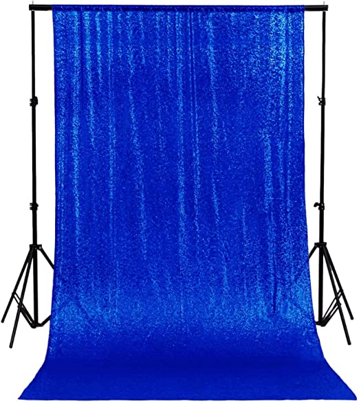TRLYC Fuchsia 5ftx9ft Shimmer Sequin Fabric Photography Backdrop Sequin Curtain