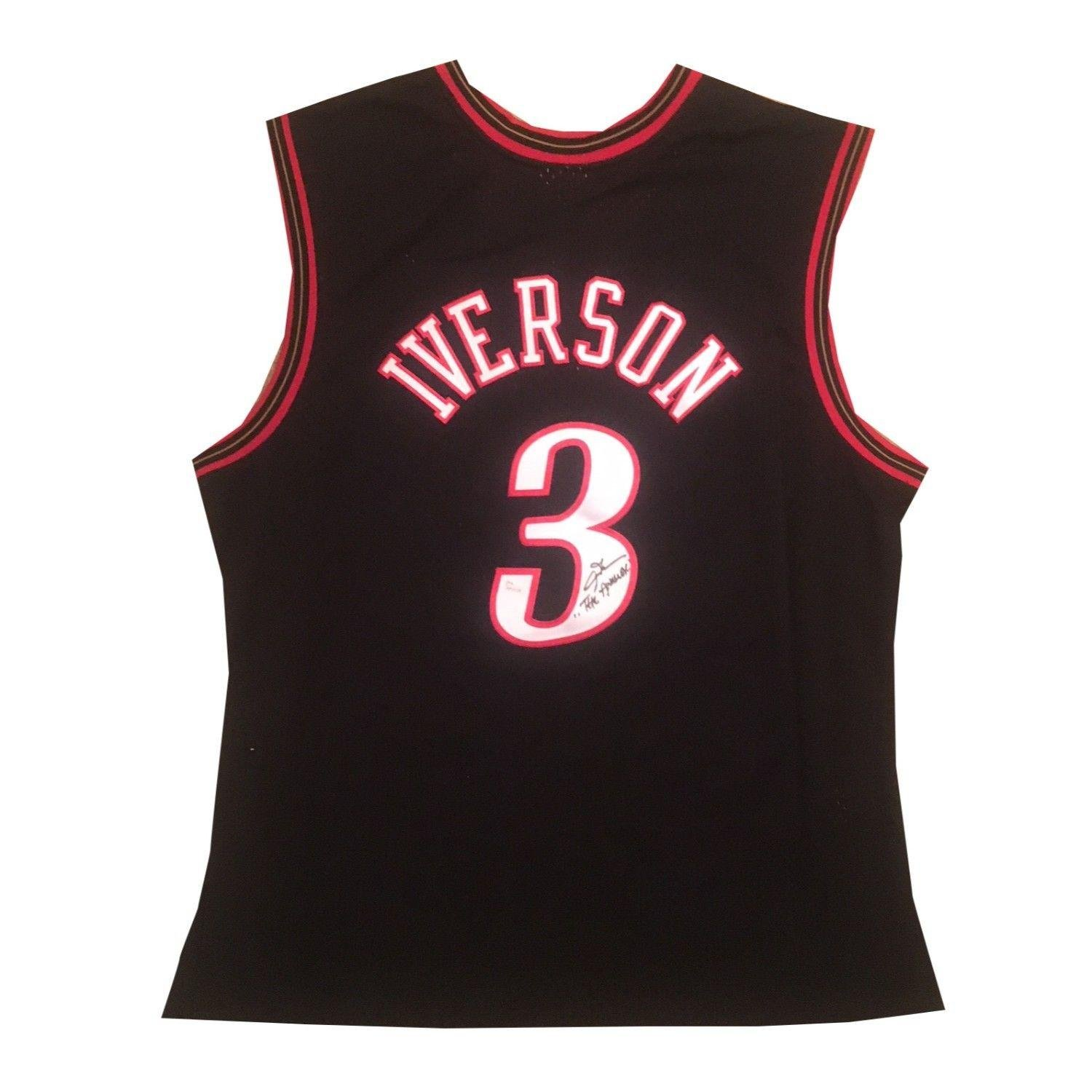 Autographed Allen Iverson Jersey - Mitchell Ness Swingman Answer - JSA  Certified - Autographed NBA Jerseys at Amazon s Sports Collectibles Store 638b90af3