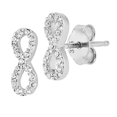 Citerna 9 ct Square Stud Earrings Set with CZ Stones wR7qOql5RR