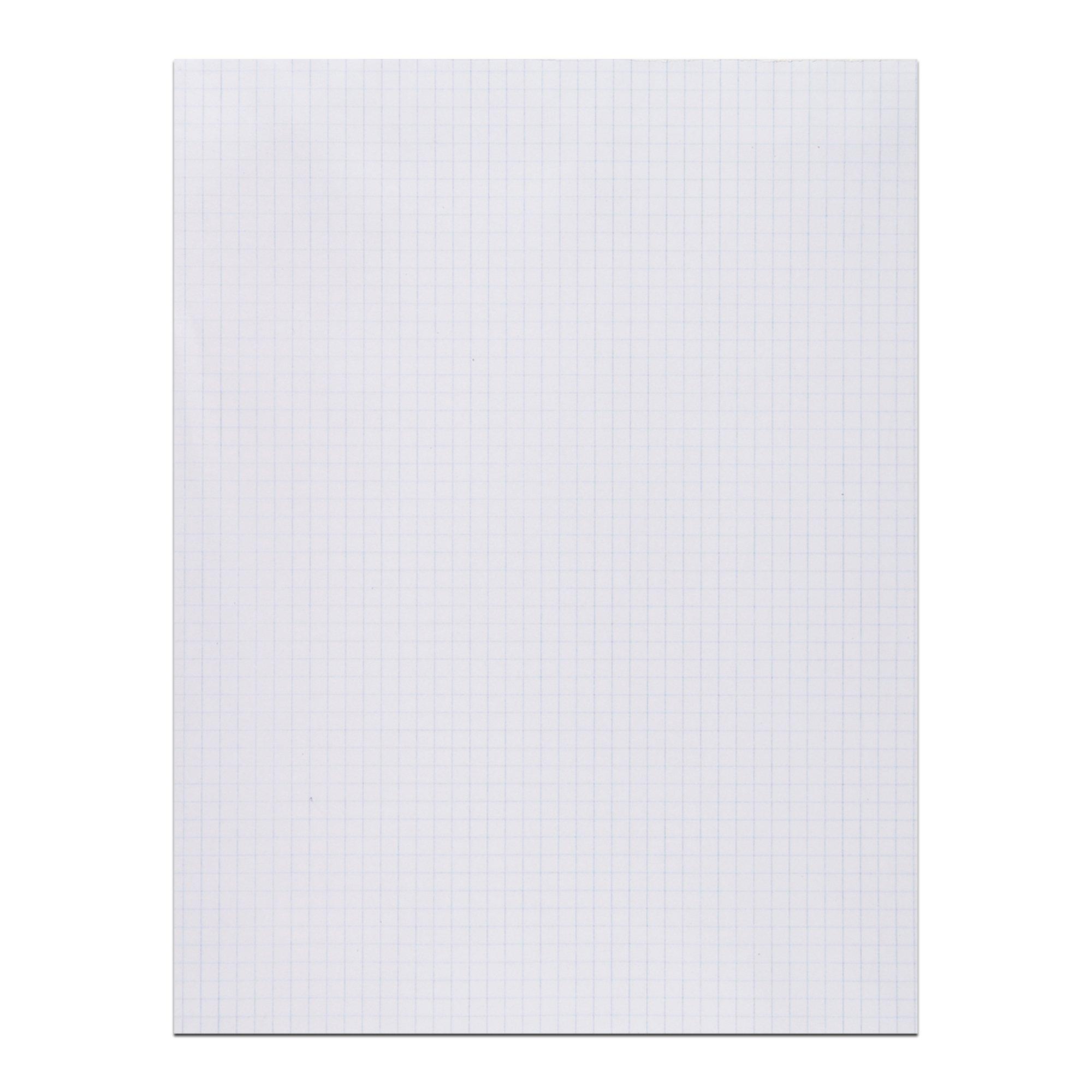 Roaring Spring Gummed Pad, 8.5'' x 11'', White, 5x5 Graph
