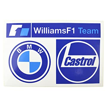 Ab Tools Williams F1 Team Bmw Castrol Sticker Stick On Badge Logo