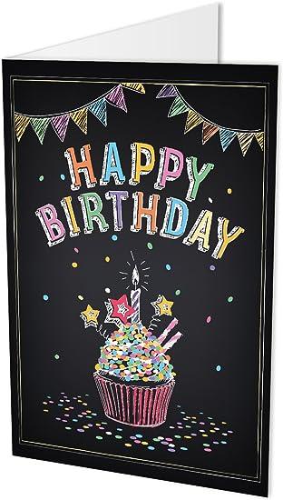 Maxi Carte D Anniversaire Avec Inscription Happy Birthday A Deux Volets Format A4 Avec Enveloppe Carte D Anniversaire Happy Birthday Anniversaire Felicitations Amazon Fr Fournitures De Bureau