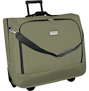 Geoffrey Beene Deluxe Rolling Garment Bag - Travel Garment Carrier With  Wheels - Olive Green d73b9f4146