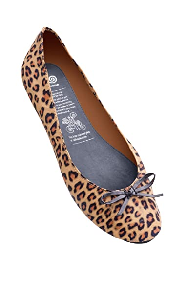 9ae08e77b26 Rollasole Womens Ladies Leopard Print Ballerina Ballet Flat Pump Shoes  Brown L  Amazon.co.uk  Shoes   Bags