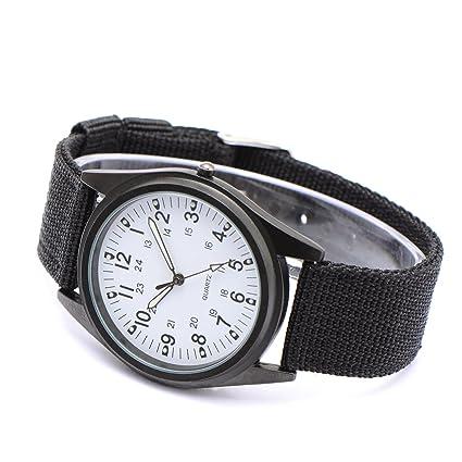 CLE DE TOUS Reloj de Pulsera para Hombre Caballero Correa Nylon Color Negro