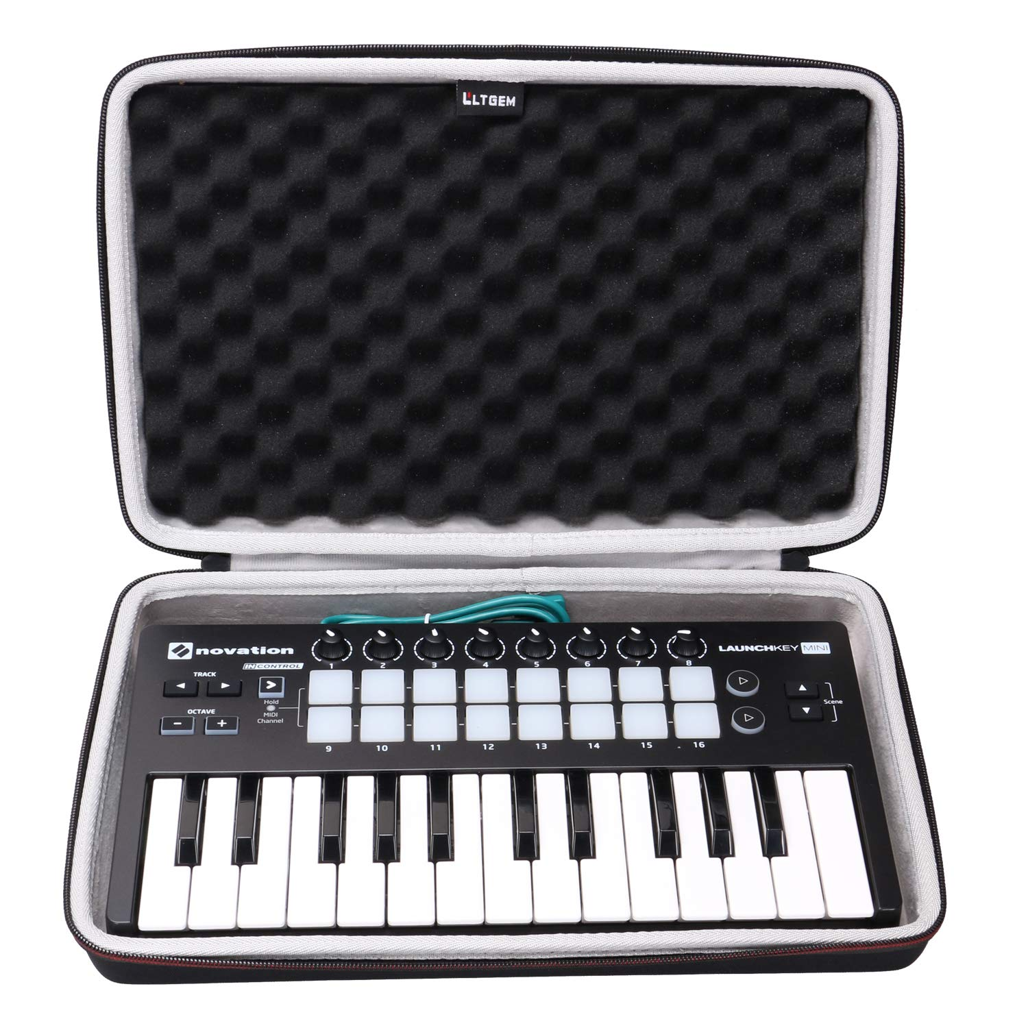 LTGEM EVA Hard Case for Novation Launchkey Mini 25-Note USB Keyboard MK2 Controller - Travel Protective Carrying Storage Bag CS294