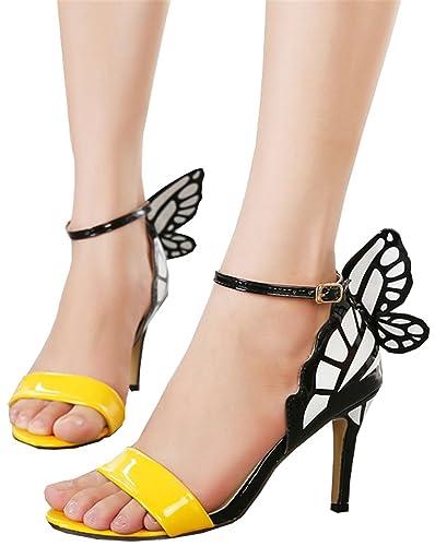 01f9361b071 Amazon.com | UNIOPLIIL Dream Butterfly Buckle Women Pumps Sexy ...