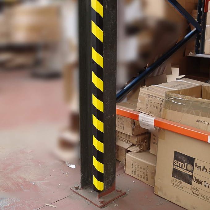 Allcam wrp3yb Angular Espuma de Poliuretano almacén paletización Protector con Alta Visibilidad Amarillo / Rayas Negras para la protección del Estante Edge: Amazon.es: Juguetes y juegos