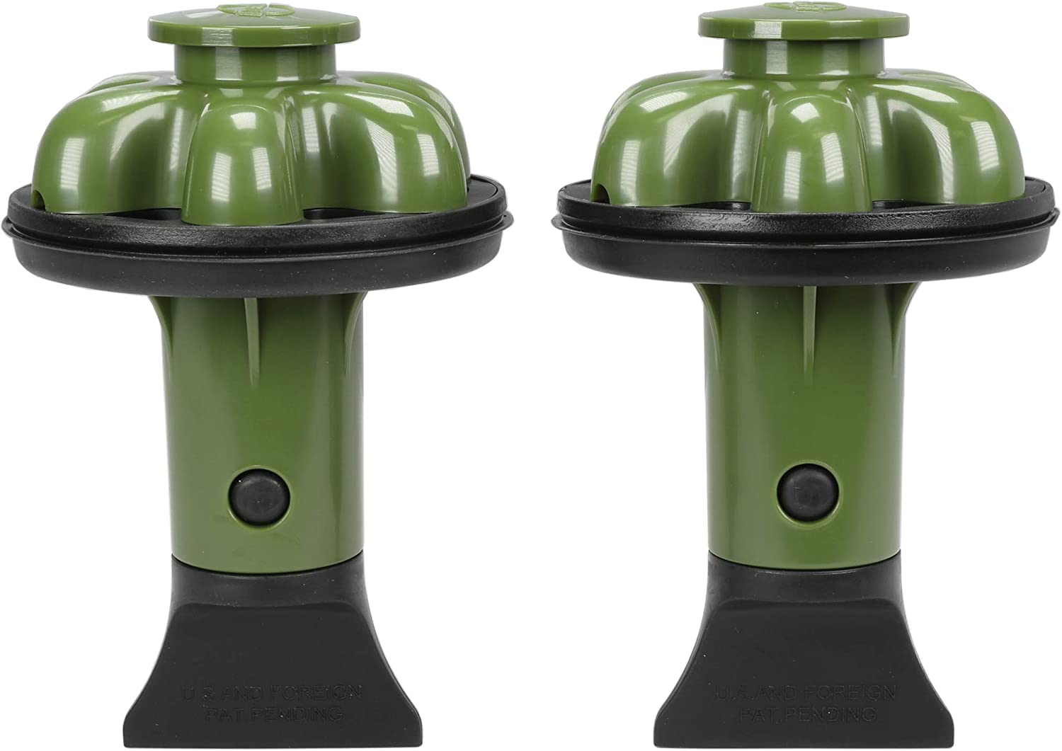 Danco 10920A | Disposal Genie II Garbage Disposal Strainer and Stopper, Kitchen Sink Drain Splash Guard with Food Scraper, Olive, 2-Pack