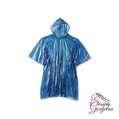 10 x Imperméable pluie poncho imperméable manteau cape mac disponible ou réutilisable festival, camping, parcs à thème et plus