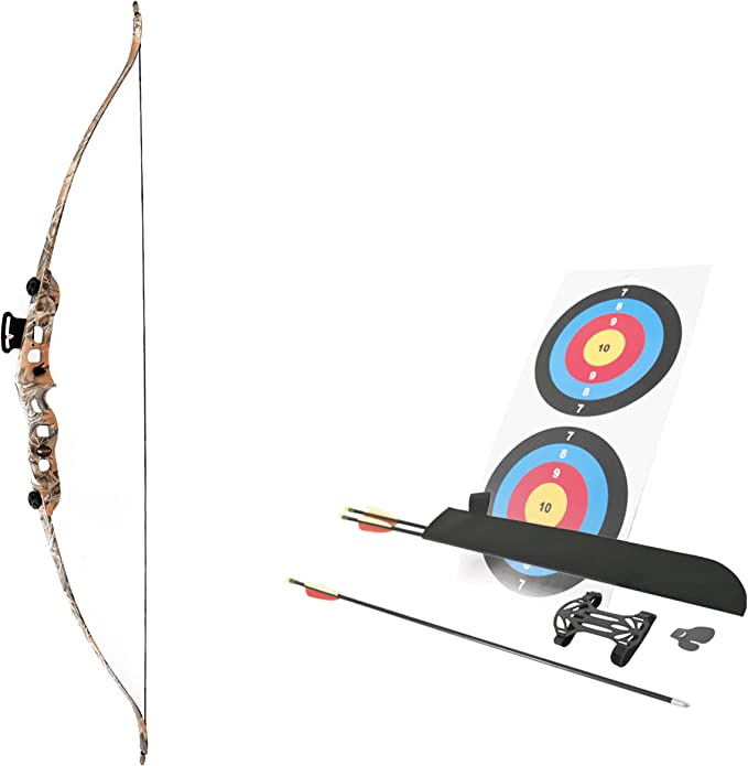 """Details about  /53/"""" Youth Recurve Bow 26-30lbs Adjustable Aluminum Archery Beginner Kids RH LH"""