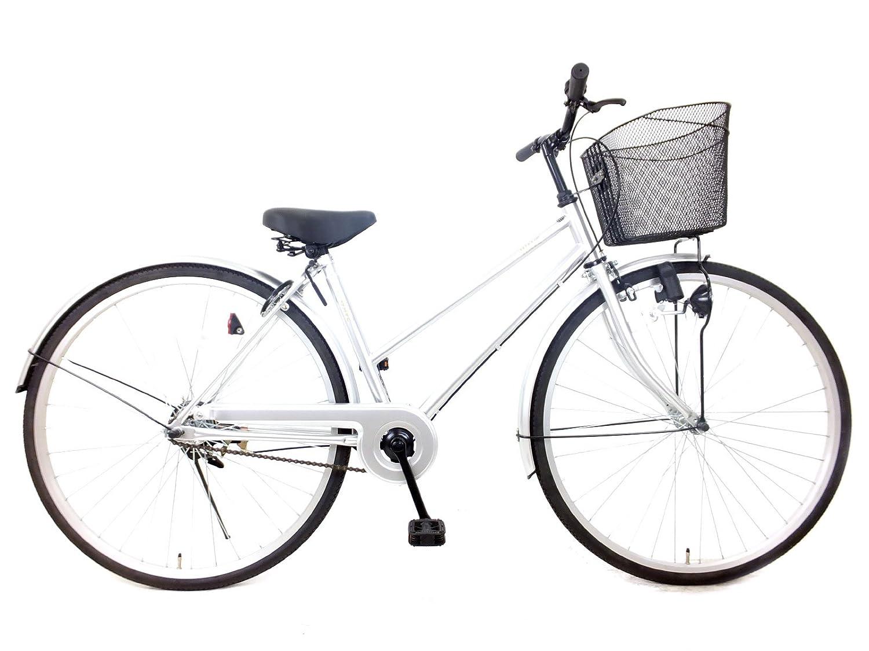 自転車 27インチ シティウェーブ シングルギア B06XXVGB8Gシルバー