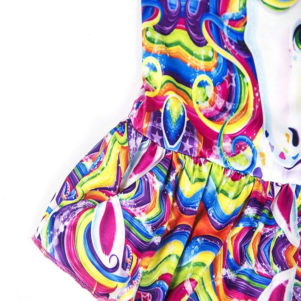 LANTOP Girl Bathing Suit Unicorn Ruffle Swimwear One Piece Swimsuit More Comfortable