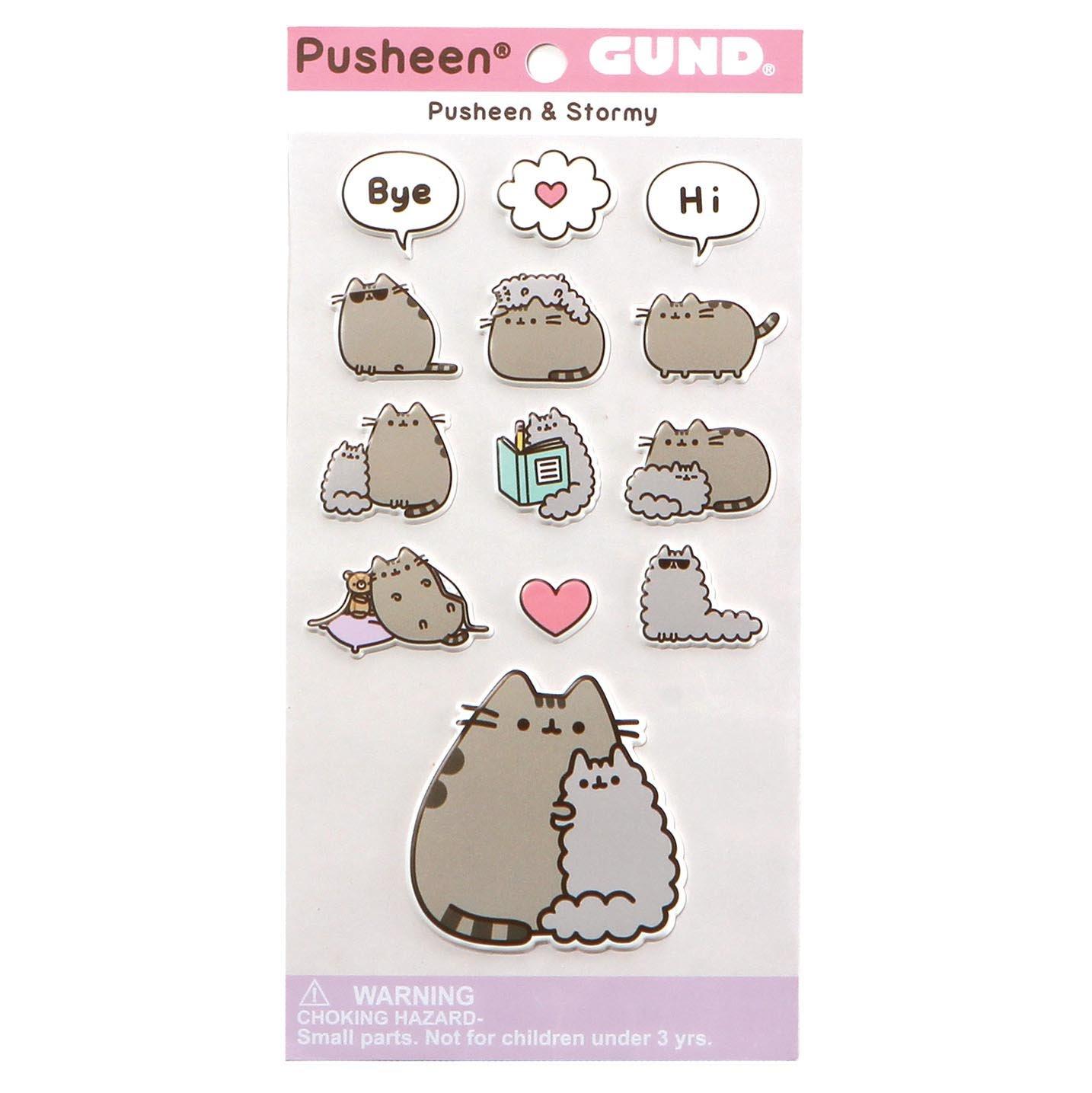 Gund Pusheen Stormy Sticker,, 9x18.5x13.00 cm (Enesco 4060833)