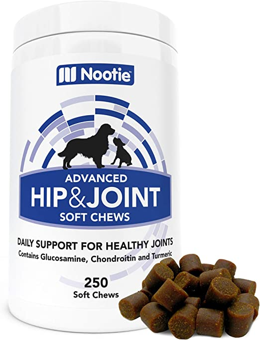 Glucosamine Chondroitin for Dogs - 250 Training Size Dog Treats - Daily Chewable Dog Glucosamine with Turmeric - MSM - Hip and Joint Soft Chews 250 ct -2 Month Supply - All Breeds and Sizes USA
