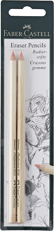 Faber-Castel Eraser Pencils, 2-Pack, Multicolor