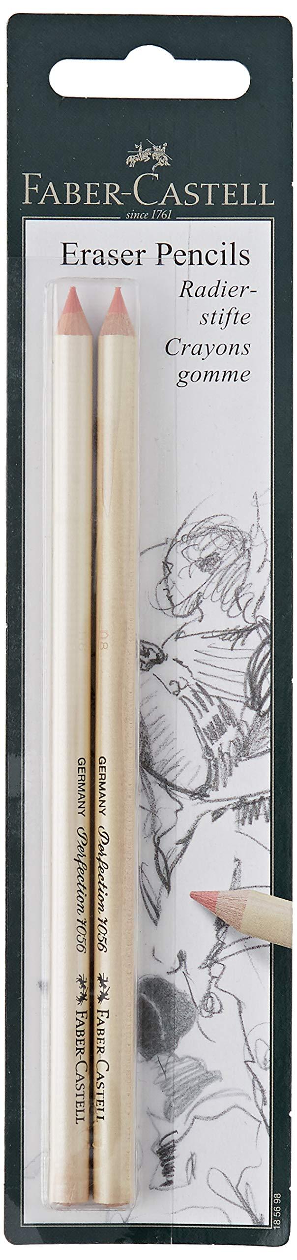 Faber-Castel Eraser Pencils, 2-Pack, 2, Multicolor