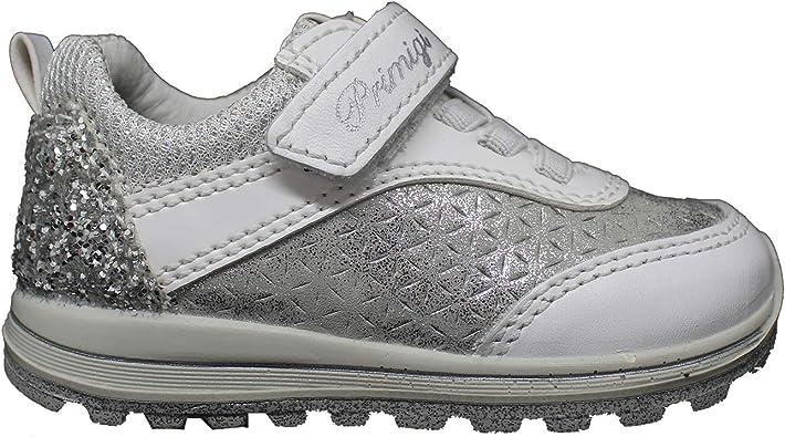 Zapatillas PRIMIGI para niña en Piel Blanca y Plateada 3372200.: Amazon.es: Zapatos y complementos
