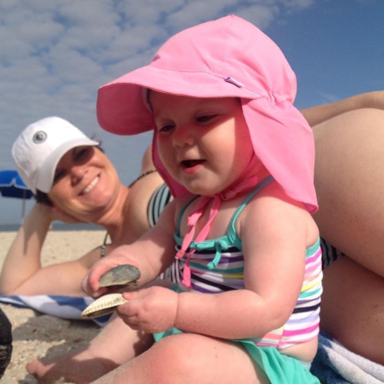 Kids Sun Hat Boys/Girls Toddlers Sun Protection Hat UPF50+ Long Neck Flap Swim Hat (2 Navy Blue) by Sunlightfree (Image #4)