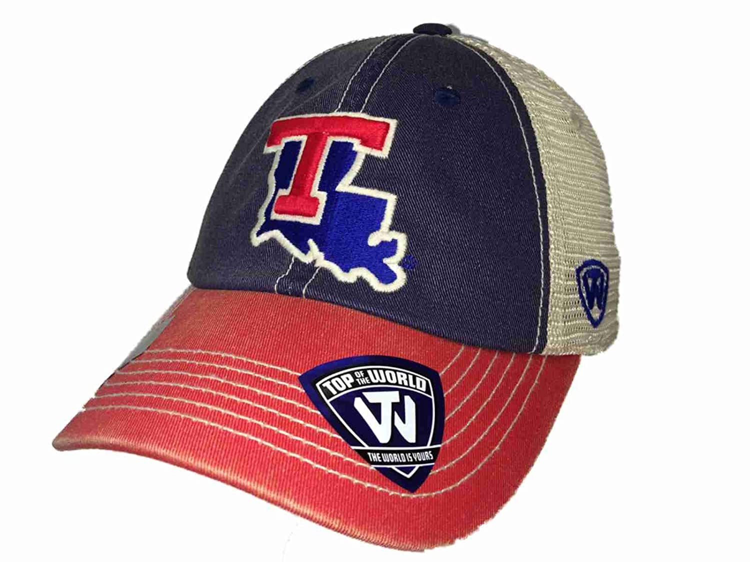 Amazon.com   Top of the World Louisiana Tech Bulldogs Red Offroad Adjust  Snapback Hat Cap   Sports   Outdoors 908700a1570b