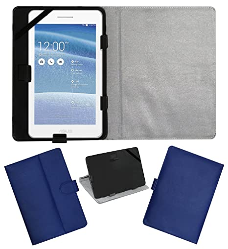 ACM Leather FLIP Flap Tablet Holder Carry CASE Stand Cover for ASUS Tablet FE171 Blue Tablet Bags, Cases   Sleeves