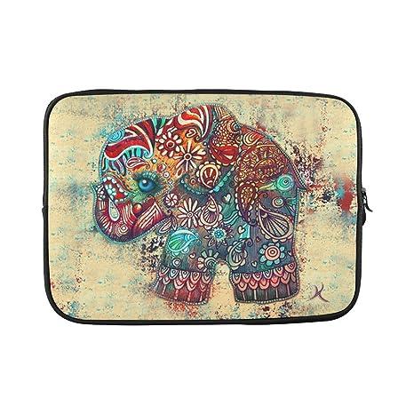 """Hermoso diseño Cute elefante azteca para ordenador portátil bolsa para ordenador portátil de 15 """""""