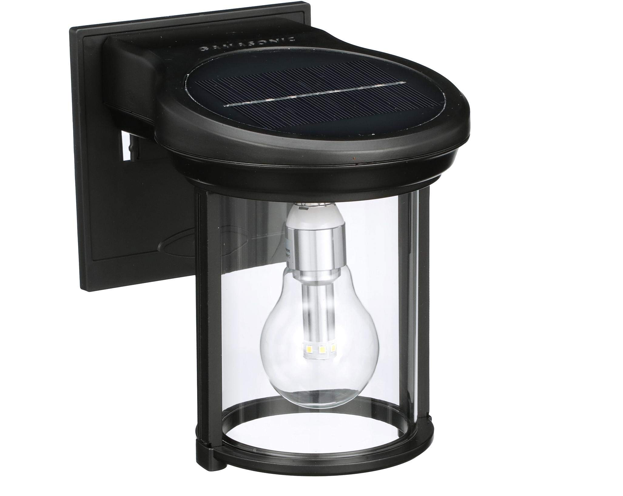 Gama Sonic GS-1B Coach Lantern Outdoor Solar Light Fixture, Wall Mount Sconce, Black by Gama Sonic