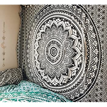 Amazon Com Exclusive Black Grey Ombre Mandala By Quot The