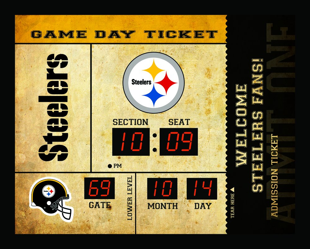 Team Sports America Pittsburgh Steelers Bluetooth Scoreboard Wall Clock by Team Sports America