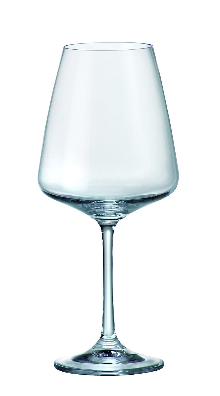 Rojo sin plomo Copas de vino Naomi 450 ml - Juego de 6 botellas de cristal (+ tope gratis: Amazon.es: Hogar