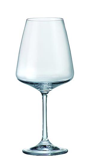 Cryst Cristalite Bohemia. Rojo sin plomo Copas de vino Naomi 450 ml – Juego de