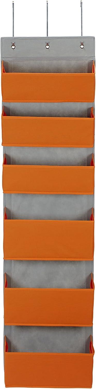 Household Essentials 2168-1 Over-the- Over-the-Door Organizer, Orange