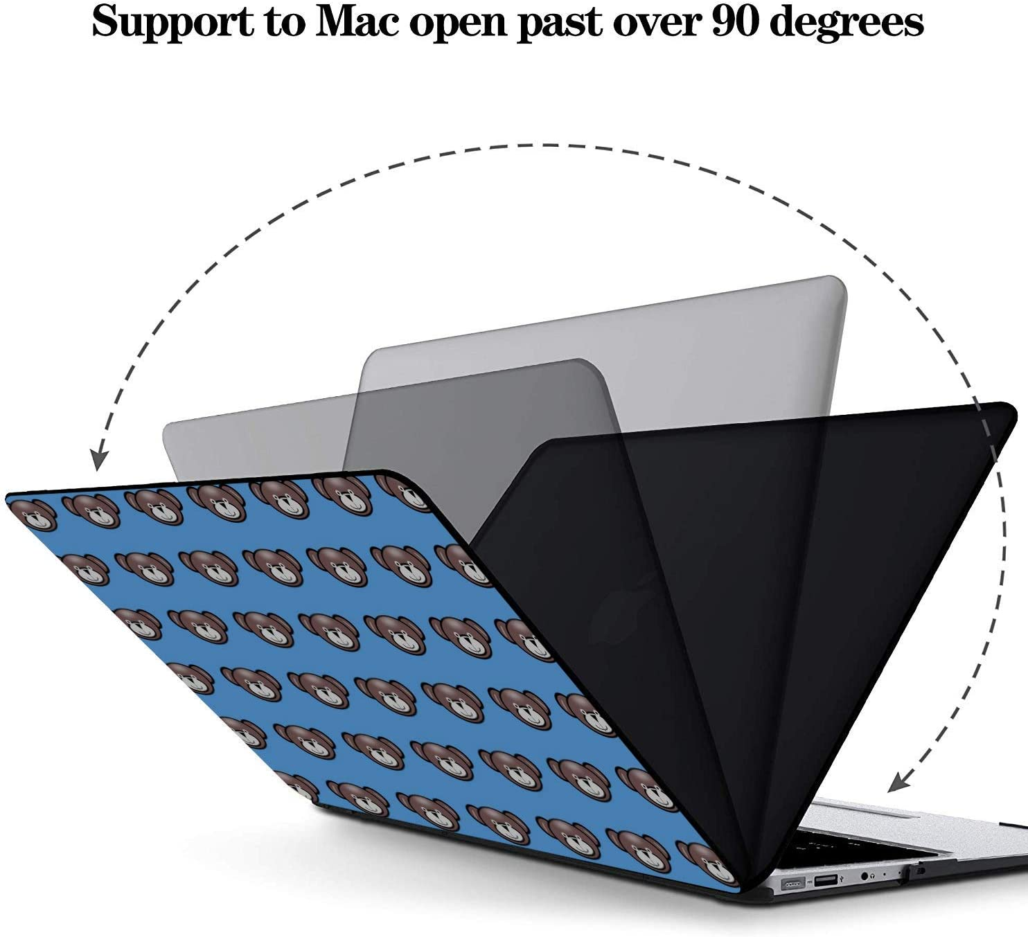 Mac Air Case Sophisticated Cute Cartoon Painting Plastic Hard Shell Compatible Mac Air 11 Pro 13 15 13 Inch Laptop Case Protection for MacBook 2016-2019 Version
